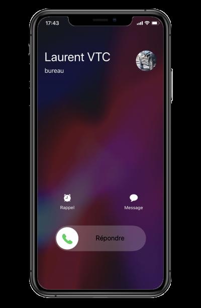 iphone Laurent VTC